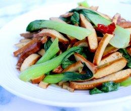 青菜炒豆干的做法