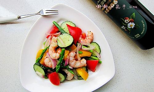 大虾芦笋沙拉的做法