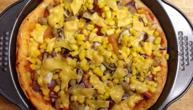 果蔬披萨的做法