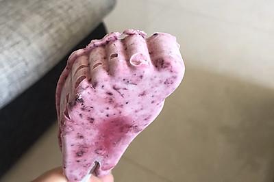蓝莓奶油雪糕&奶油雪糕