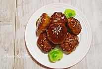 蜜汁莲藕鸡肉饼的做法