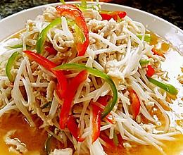 李孃孃爱厨房之—— 绿豆芽炒鸡肉丝的做法