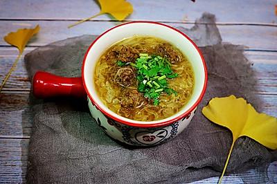 牛肉丸粉丝汤(附调肉馅的独家配方)