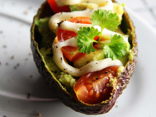 【牛油果沙拉】营养丰富。美容保健的做法