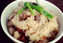 香菇腊肉糯米饭的做法