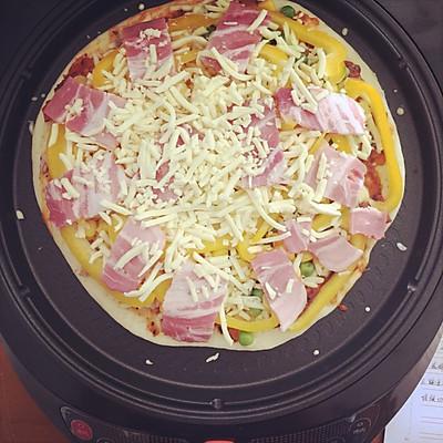利仁电饼铛试用——海陆双拼披萨(附薄饼底与披萨酱制作)的做法 步骤12