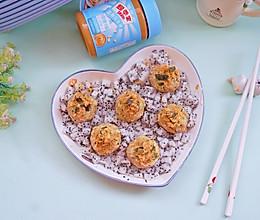 #四季宝蓝小罐#黄瓜藜麦鸡丝蛋饭团的做法