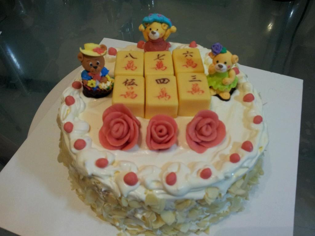 麻将生日蛋糕的做法