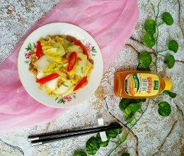 猪肉渣炒大白菜#太太乐鲜鸡汁蒸鸡原汤#的做法