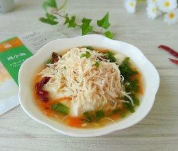鸡丝豆腐脑(内酯豆腐版)