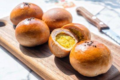 桑葚汁雪蜜甜薯小面包(皮馅比例1:1)