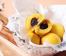 无水南瓜豆包,一次发酵的做法