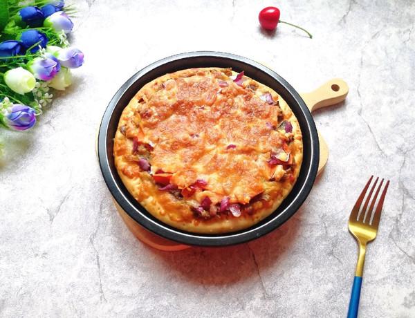 辣酱羊肉披萨#肉食者联盟#的做法