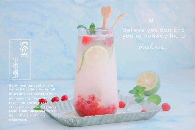 奶香蔓越莓气泡水