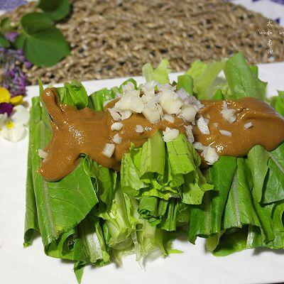 这样的青菜能吃一大盘—麻酱油麦