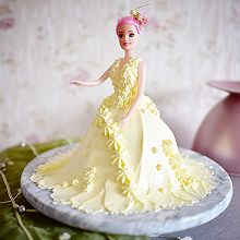 婚纱裱花娃娃蛋糕