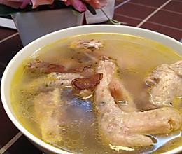 鹿茸元贝土鸡汤的做法