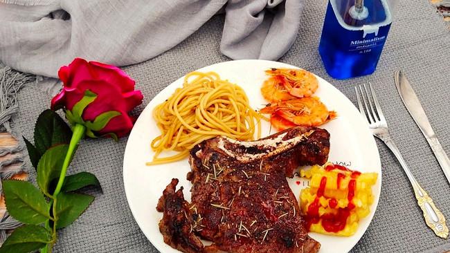 #520,美食撩动TA的心!#战斧-家庭版西餐的做法