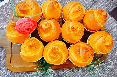 黄色玫瑰花朵面包