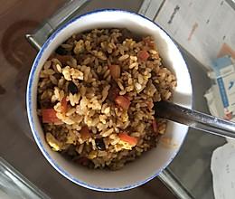 超重口的~炒米饭的做法