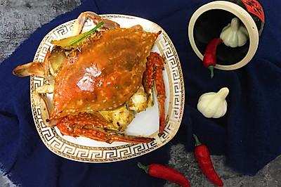 一人可以吃一盘的姜葱炒蟹