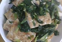鸡毛菜炒豆腐的做法