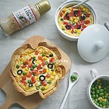素食【山药乳蛋饼】#丘比培煎芝麻沙拉汁#