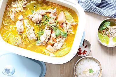 #520,美食撩动TA的心!#一锅两吃,酸萝卜牛蛙汤