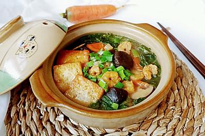 虾仁豆腐杂货锅
