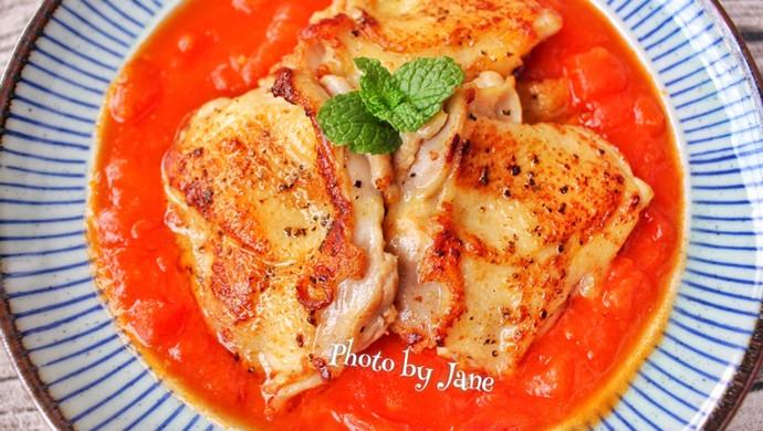 茄汁配嫩滑鸡扒