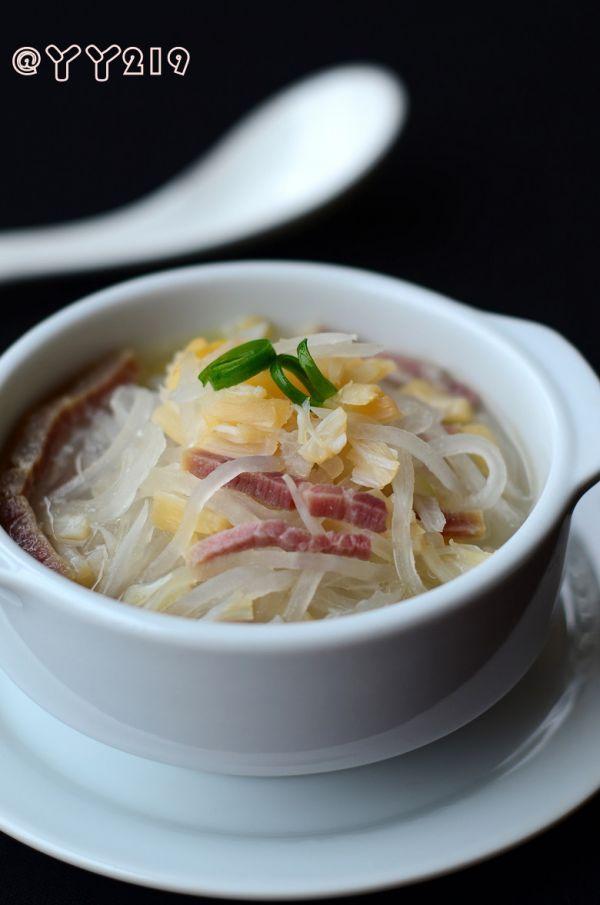 清肠塑身美味汤水——【火腿干贝萝卜丝汤】的做法