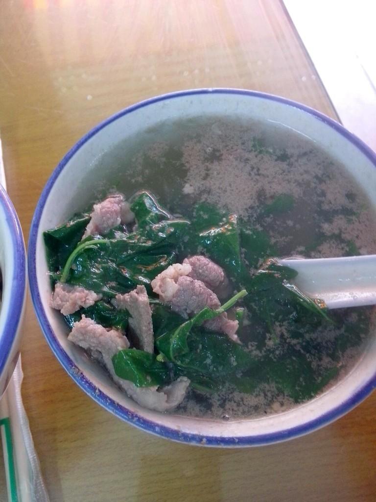 猪肝汤_枸杞叶猪杂汤怎么做_枸杞叶猪杂汤的做法_豆果美食