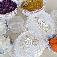 自制紫薯酥皮蛋黄月饼的做法图解1