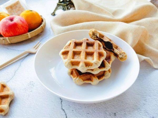 全麦夹心华夫饼(低脂酵母版)的做法