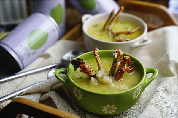 鲜米鱼丸蟹粥的做法