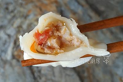 西红柿玉米鲜虾饺