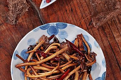 干煸茶树菇