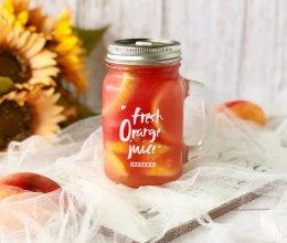 自制水蜜蟠桃西瓜气泡水,清爽又甜蜜的做法