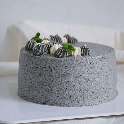 浓香黑芝麻奶油蛋糕