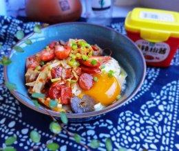 #一勺葱伴侣,成就招牌美味#辣酱河虾面的做法