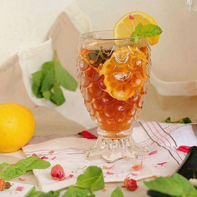 玫瑰柠檬冰红茶