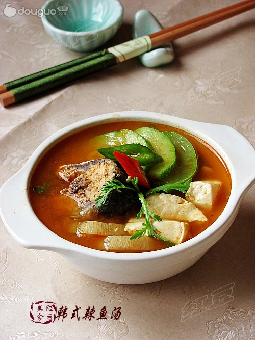 韩式辣鱼汤图片