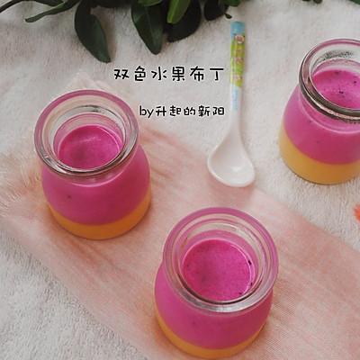 双色水果布丁