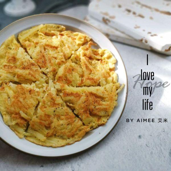 #520,美食撩动TA的心!#土豆丝鸡蛋饼的做法