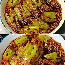 减脂菜❗️酱香浓郁~超级好吃的青椒金针菇