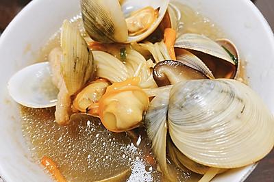 宝宝补锌之鲜美菌菇蛤蜊汤