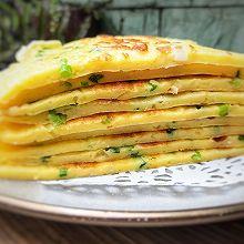 #换着花样吃早餐#十分钟快手早餐~葱花鸡蛋饼