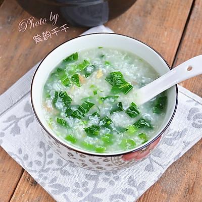 海米菜心粥