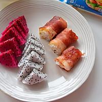 营养快手早餐-培根芝士饭卷#百吉福食尚达人#的做法图解5