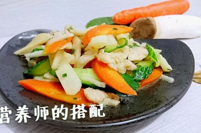 营养师的搭配:荸荠什锦炒肉片【抗癌、糖尿病食谱】